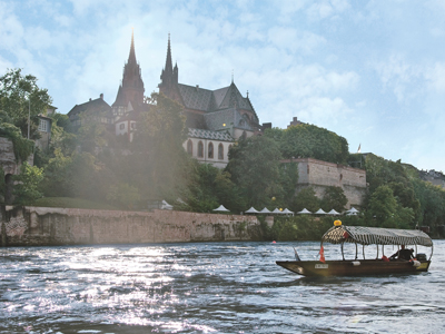 A water taxi on the Rhein