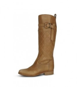 Burberry Washed Quilted Leather Risding Boot, $895