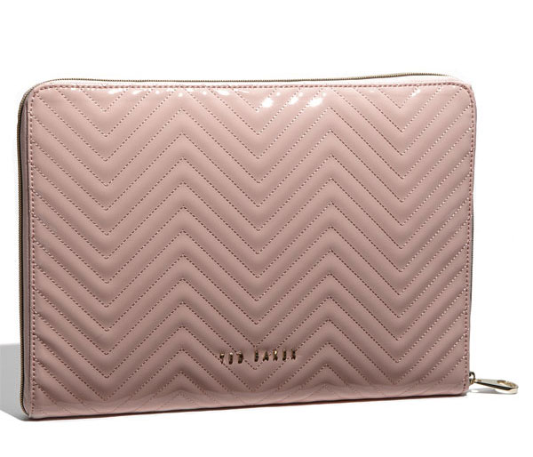 Ted Baker 'Lianna' Quilted Patent Laptop Sleeve