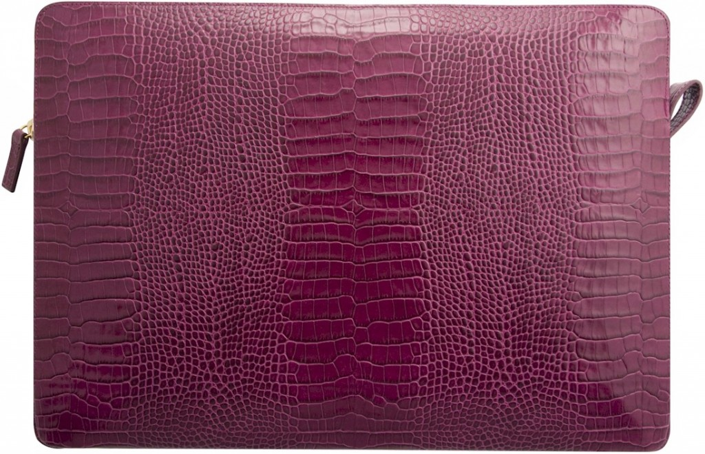 Smythson Damson laptop case