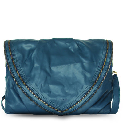 Matt & Nat blue vegan leather laptop bag