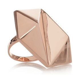 Eddie Borgo Gold-plated inverted pyramid ring, $315 (US)