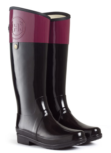 Hunter Regent Carlyle Rain Boot in Verry Berry, $250
