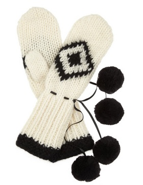 By Malene Birger Cosie chunky-knit wool mittens, $125