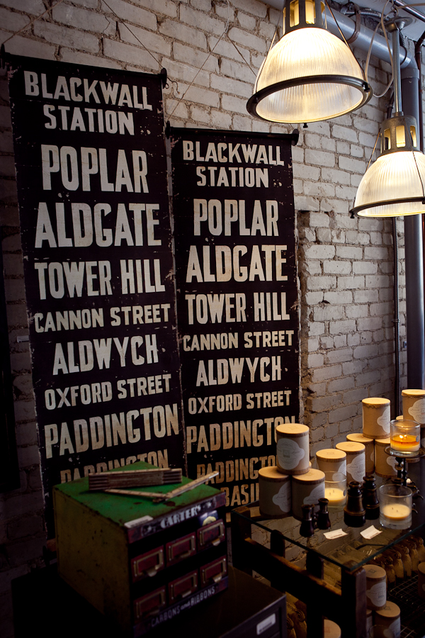 Signs with popular London street names.