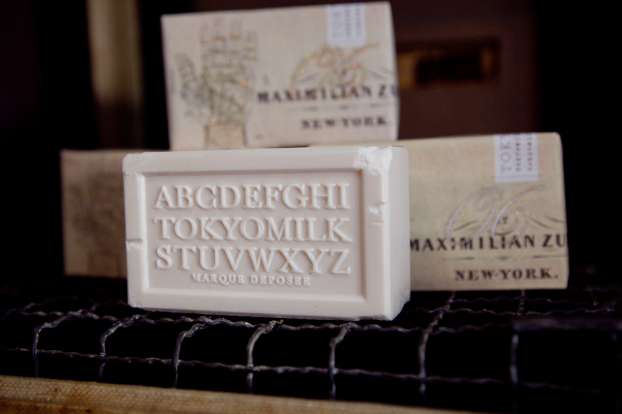Pretty hand-made soaps.