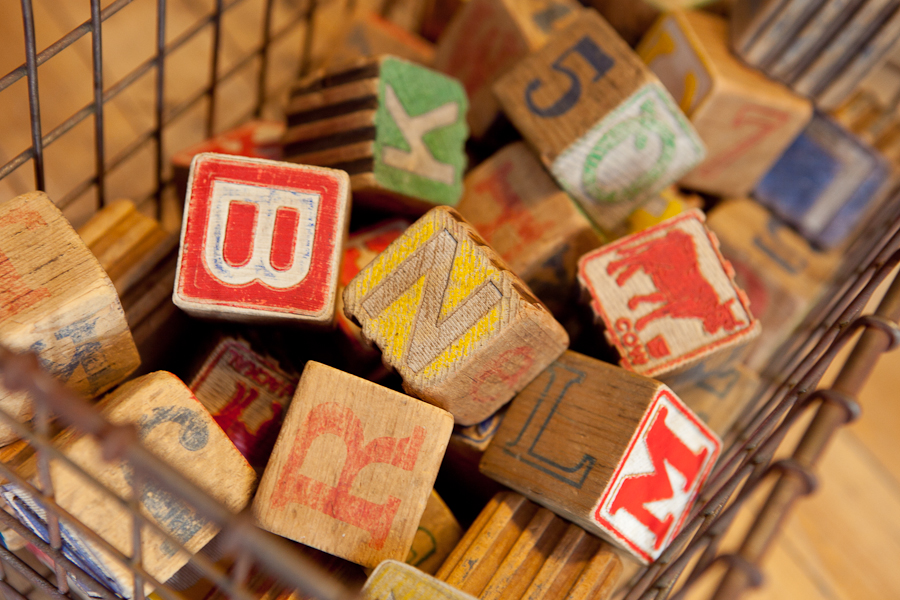 Old wooden blocks that could make a fun decoration.