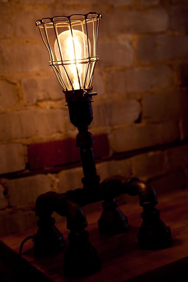An industrial light fixture.