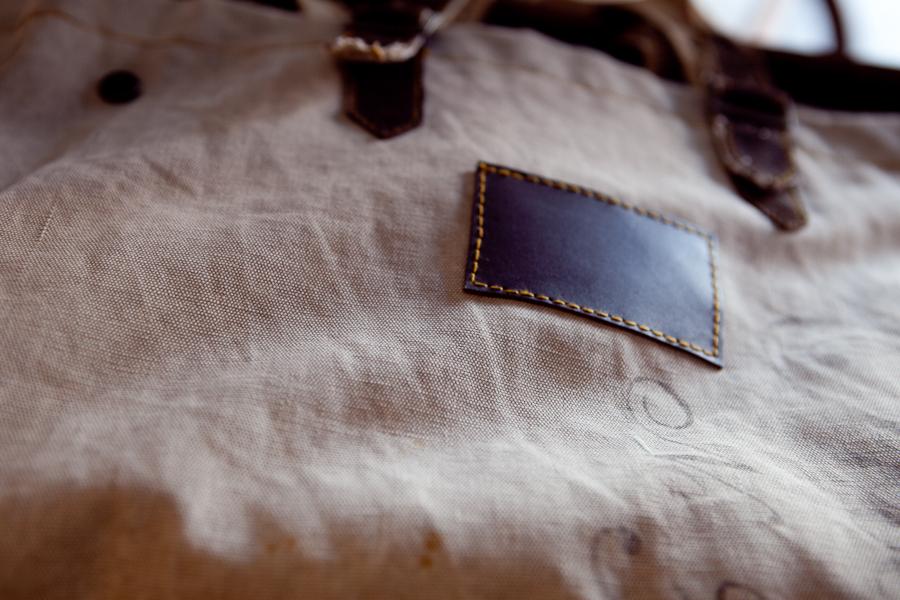 Details of a vintage tote.