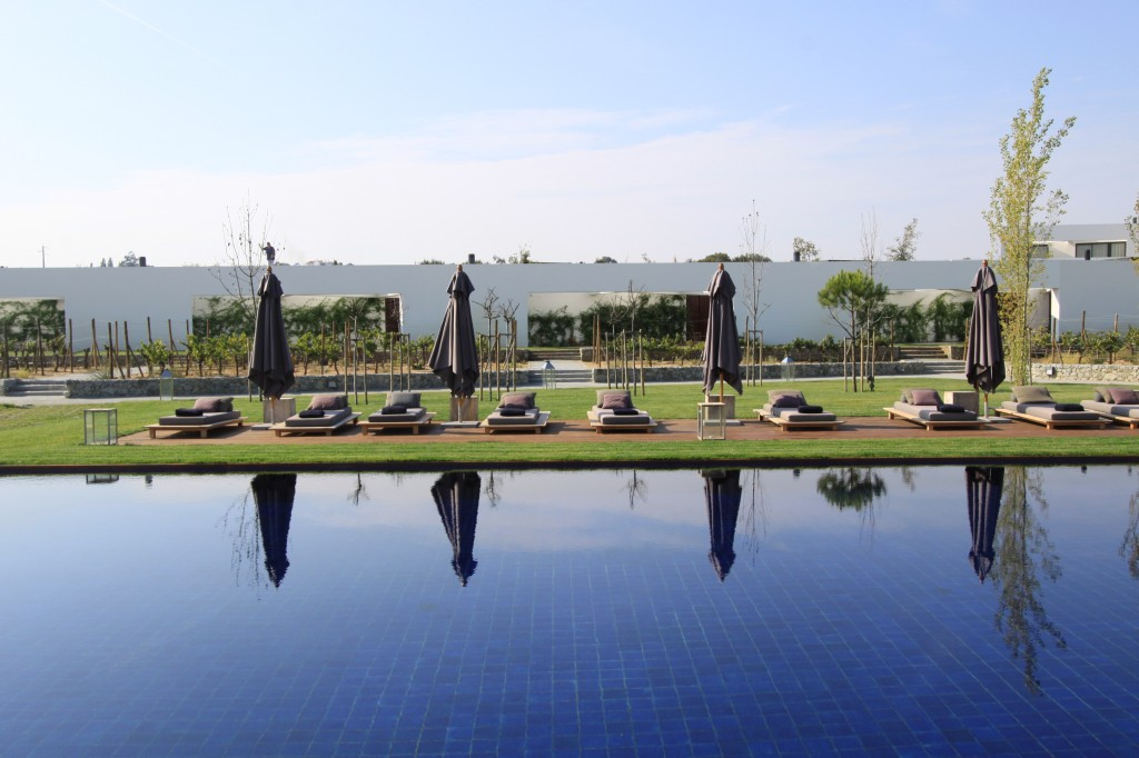 The calm and stunning pool at L'and Vineyards and Resort
