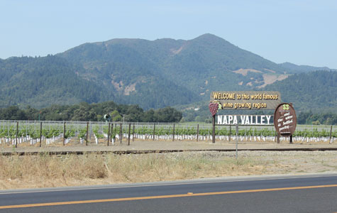 Entering Napa Valley