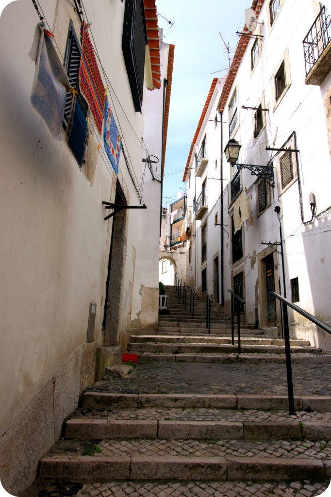 The tiny, colourful streets of Alfama in Lisbon