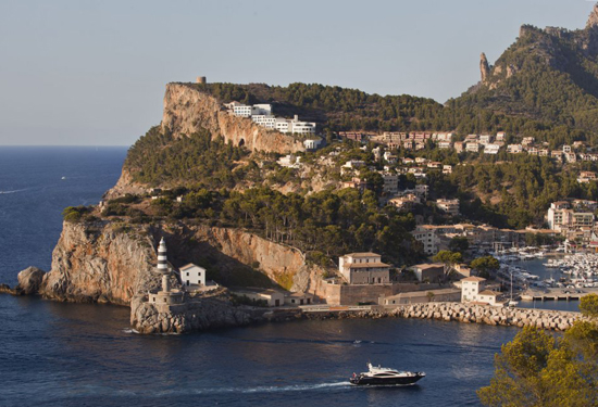 The Jumeriah Port Soller Hotel & Spa sits on the cliff.