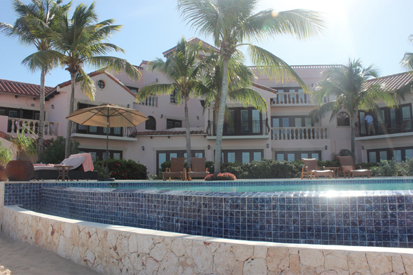 The Frangipani Beach Resort on Meads Bay.
