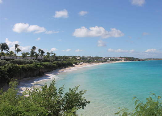 Overlooking Barnes Bay towards the villas at the Viceroy Anguilla.