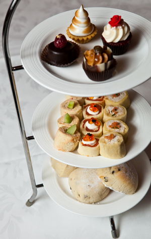 The delicious sampling of treats you'll get at Afternoon Tea. Photography Justin Harrington.