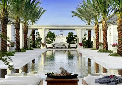 The spa at the Regent Palms in Turks and Caicos.