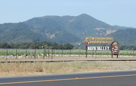 Entering Napa Valley