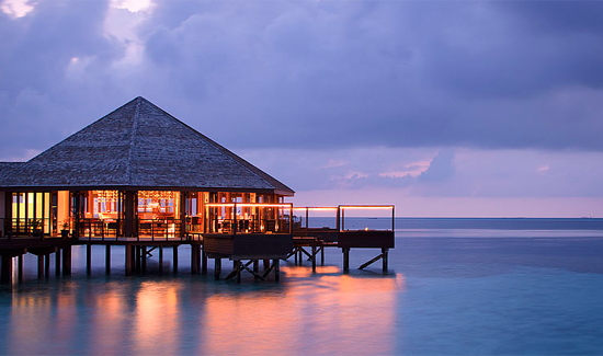 A Sunset Water Suite at Lily Beach Resort & Spa in the Maldives