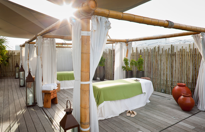 The Wellness Garden & Spa at The Betsy.