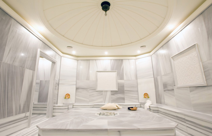 A Hamman Suite at the Carolea Spa at the Kempinski Hotel Adriatic.