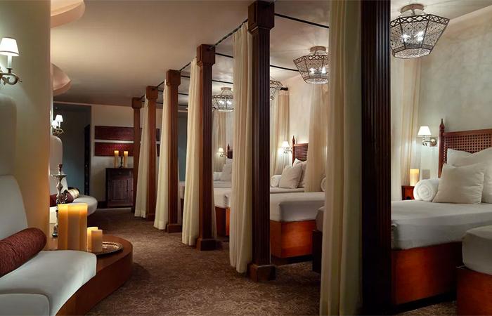 The relaxation area at Joya Spa. Image courtesy Omni Resorts.