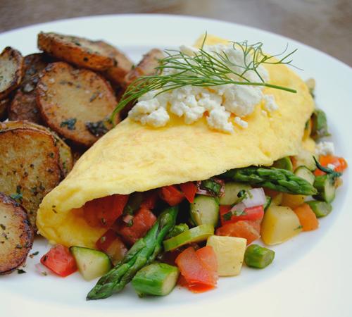 The Veggie Omelet at ZuZu's.