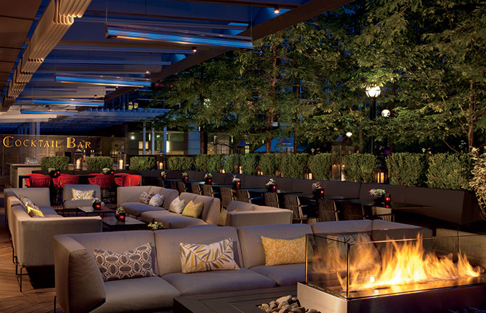 The DEQ patio at The Ritz Carlton Toronto is the perfect place to enjoy a mojito.