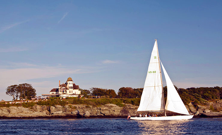 The gorgeous water and Cliff Walk in Newport, Rhode Island. All photos courtesy of Castle Hill Inn.