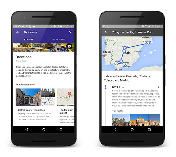 Destinations on Google makes planning out your next trip itinerary super easy.