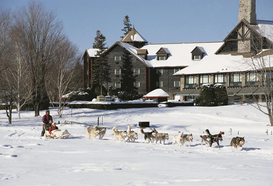 Winter activities include dog-sledding. Image courtesy Fairmont Hotels & Resorts.