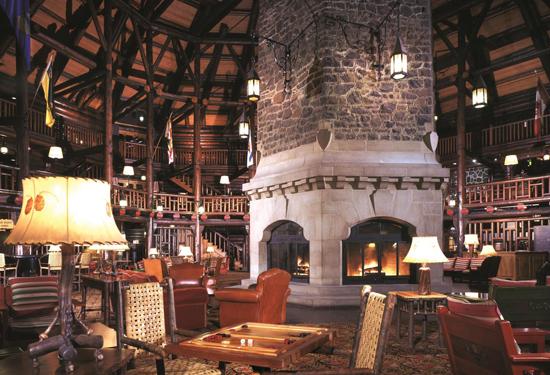 The lobby fireplace. Image courtesy Fairmont Hotels & Resorts.