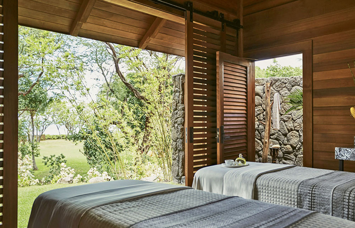 Four Seasons Oahu outdoor spa treatment