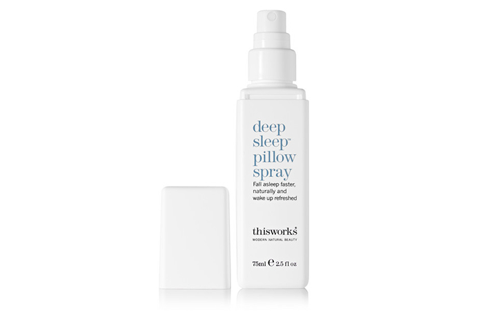 Jet lag: thisworks deep sleep pillow spray, $29.