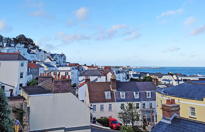 St. Peter Port on the island of Guernsey