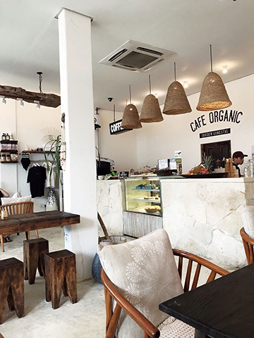 Cafe Organic in Bali.