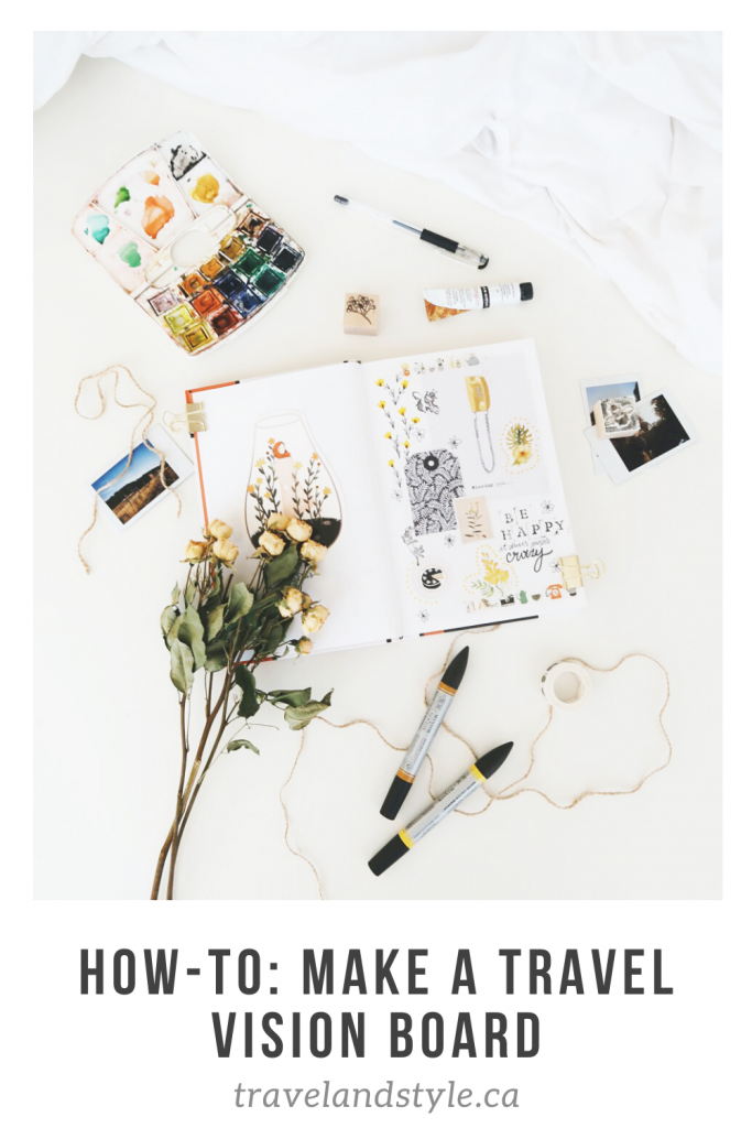 How to make a travel vision board