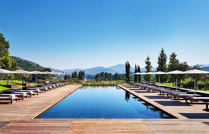 Pool views at the Six Senses Douro Valley.